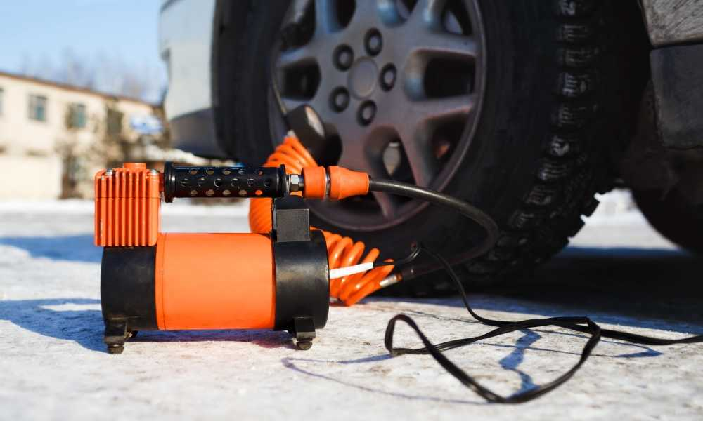 How to Use an Air Compressor to Inflate a Flat Car Tire 2
